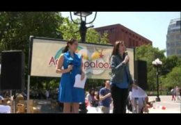 Susan Richard Emcees Adoptapalooza in Washington Square Park