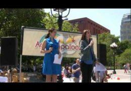 Susan Richard Emcees Adoptapalooza in Washington Square Park